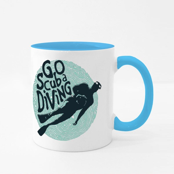 Go Scuba Diving Colour Mugs