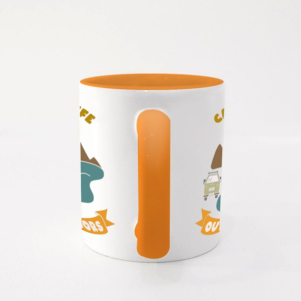 Camp Life Outdoor Colour Mugs