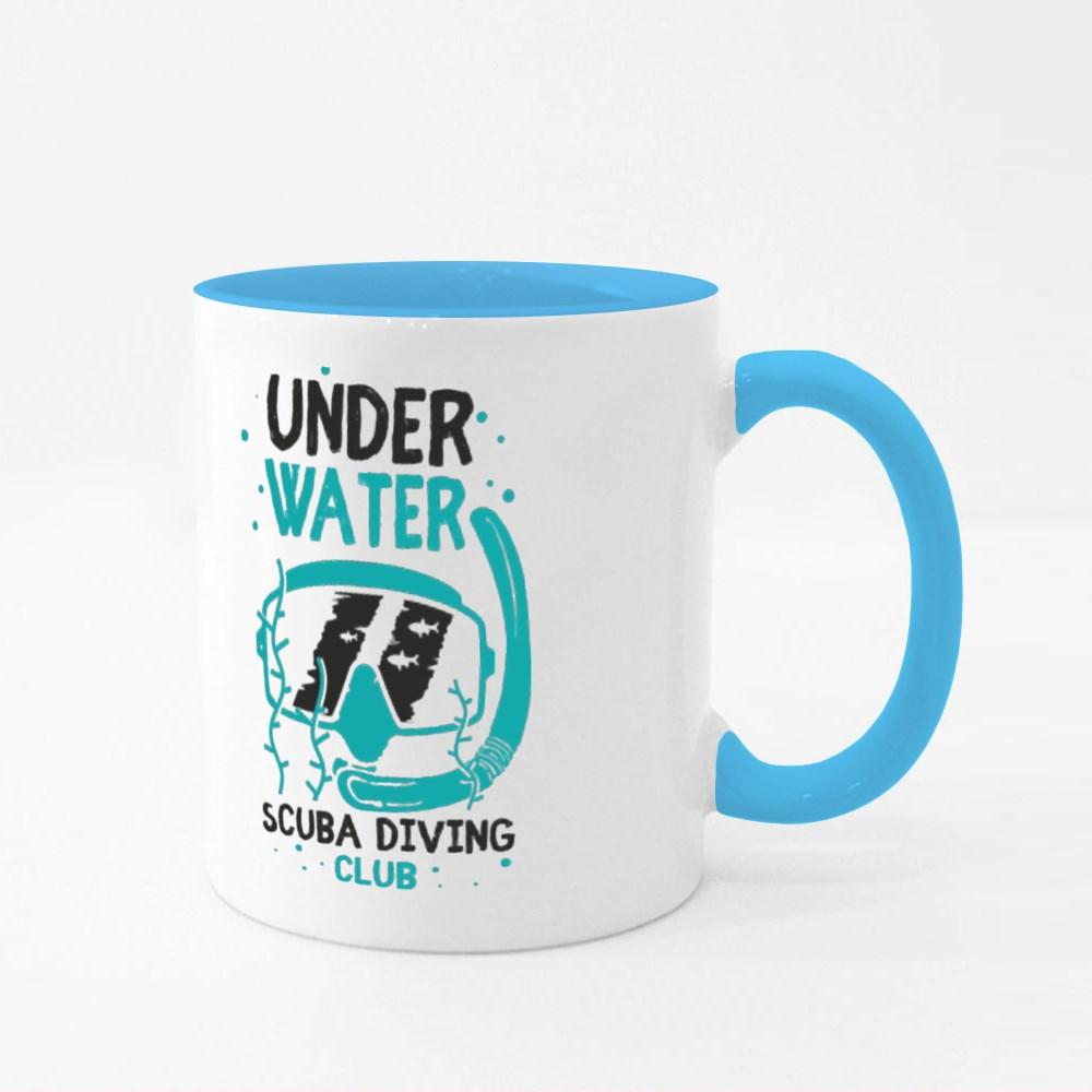 Scuba Diving Mask Colour Mugs