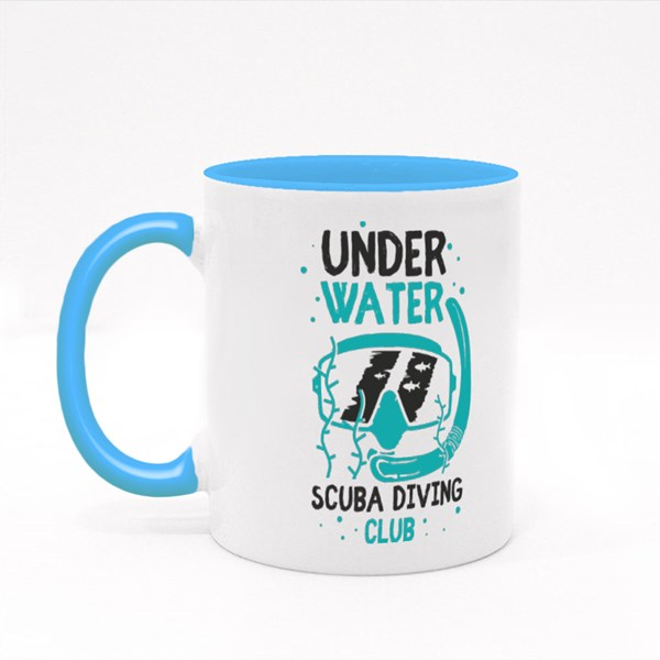 Scuba Diving Mask Colour Mugs