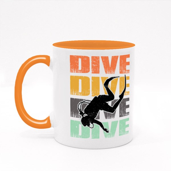 Dive Dive Dive Dive Colour Mugs