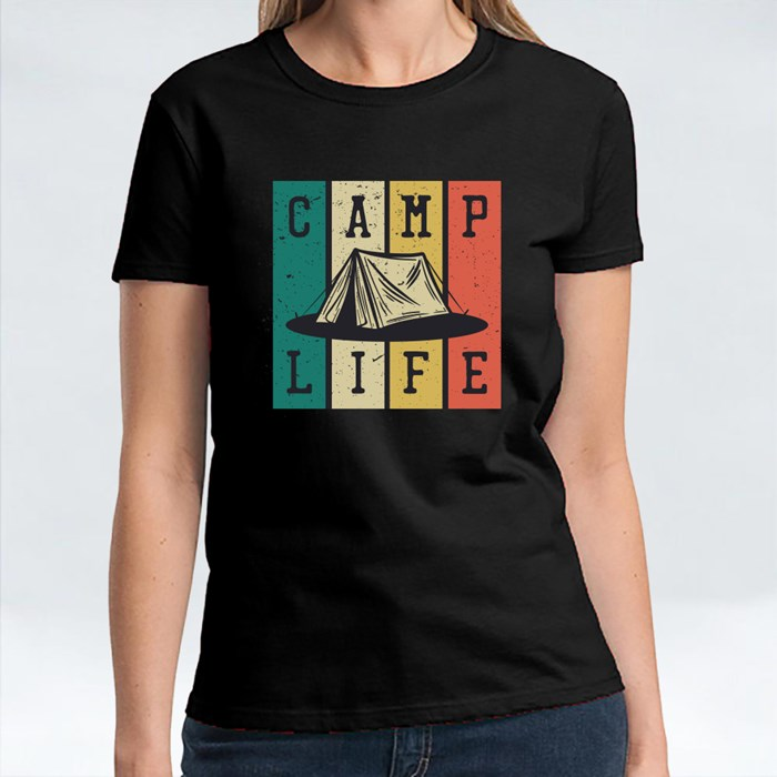 Camp Life With Camping Tent T-Shirts
