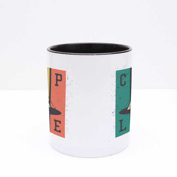 Camp Life With Camping Tent Colour Mugs