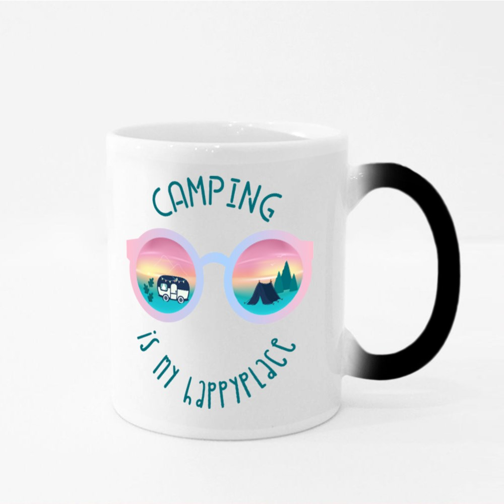 Camping Is My Happy Place Magic Mugs