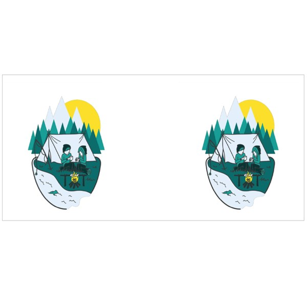 Camping in Nature Colour Mugs