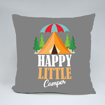 Happy Little Camper Throw Pillows