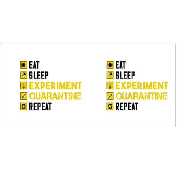 Eat Sleep Experiment Colour Mugs