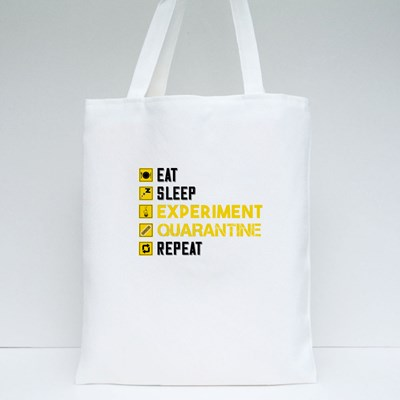 Eat Sleep Experiment Tote Bags