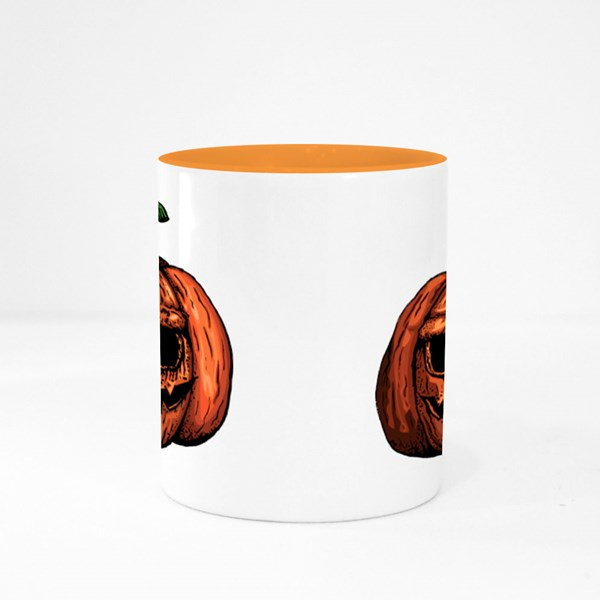 Halloween Pumpkin Head Colour Mugs
