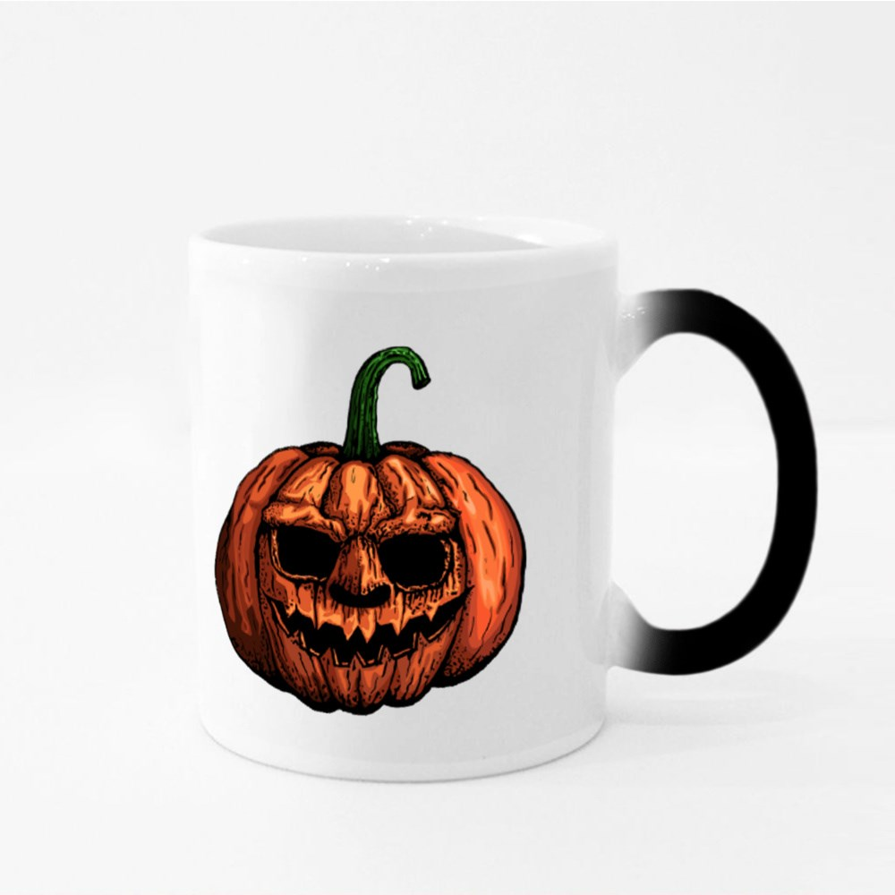 Halloween Pumpkin Head Magic Mugs