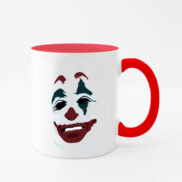 Joker Face on White Colour Mugs