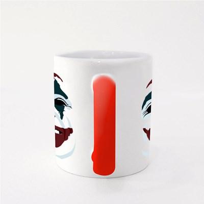 Joker Face on White Magic Mugs