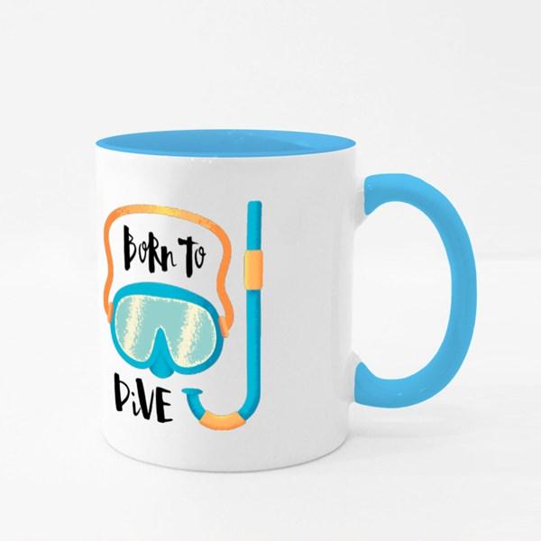 Born to Dive Snorkelling Colour Mugs
