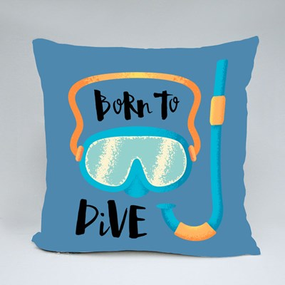 Born to Dive Snorkelling Throw Pillows