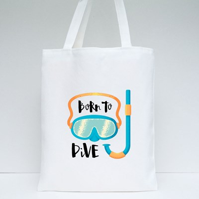 Born to Dive Snorkelling Tote Bags