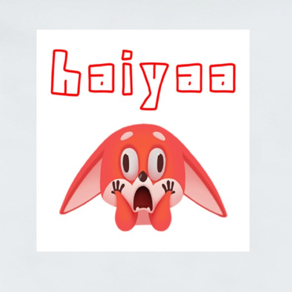Haiyaa I Can't Believe It Stickers (Square)