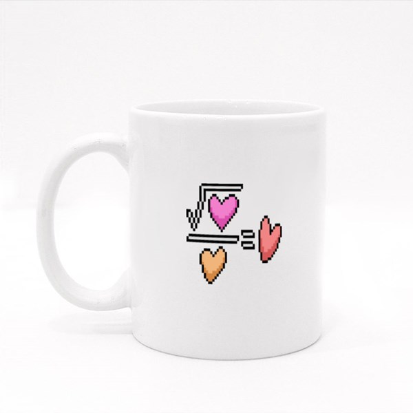 To the Power of Math Love Colour Mugs