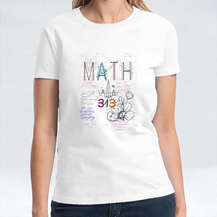 Math Lovely Flowers T-Shirts