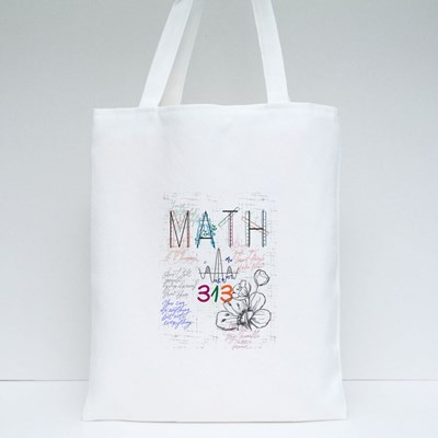 Math Lovely Flowers Tote Bags