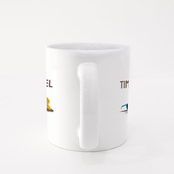 Time to Travel the World Colour Mugs