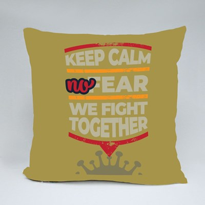 We Fight Together Throw Pillows