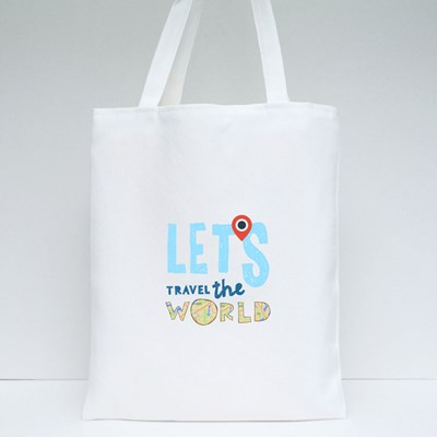 Let's Travel the World Tote Bags