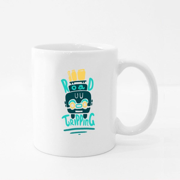 Road Tripping Travel Colour Mugs