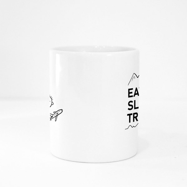 Eat Sleep Travel Colour Mugs