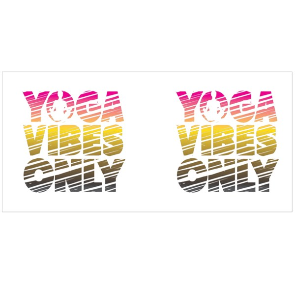 Yoga Vibes Only Colour Mugs