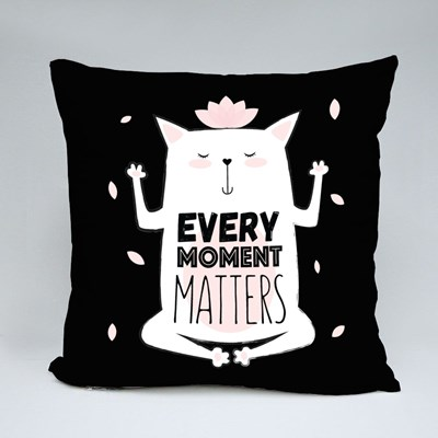 Every Moment Matters Throw Pillows