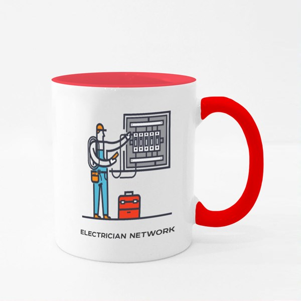 Electrician Conducts Electric Colour Mugs