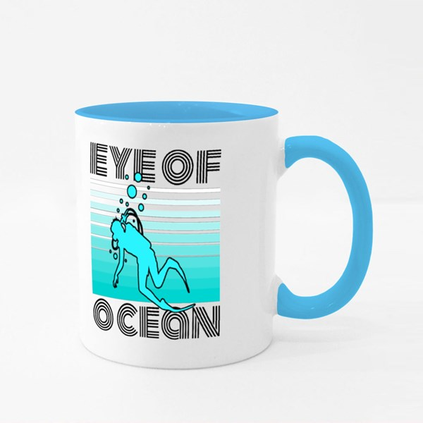 Eye of Ocean , Scuba Diving Colour Mugs