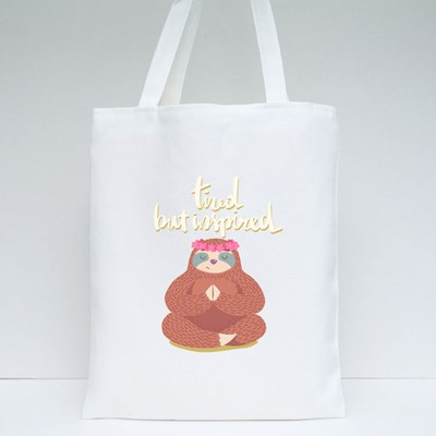 Tired but Inspired Tote Bags