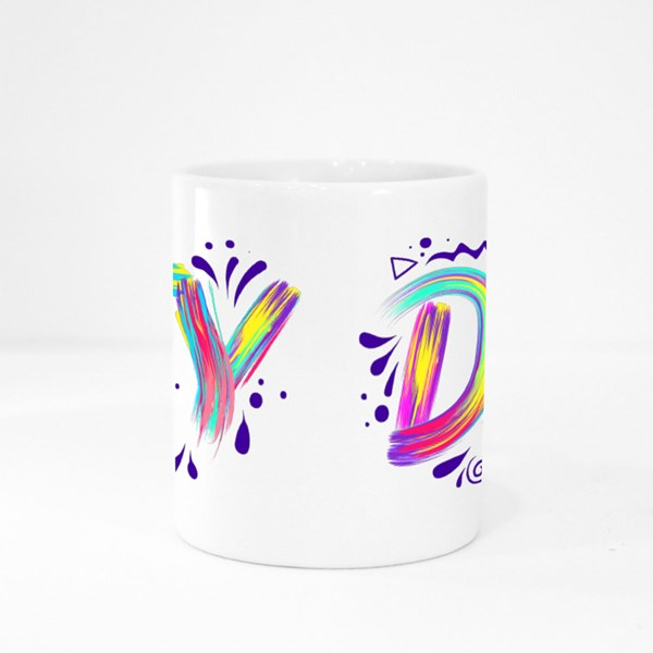 Diy Lettering  Colorful Stroke Colour Mugs