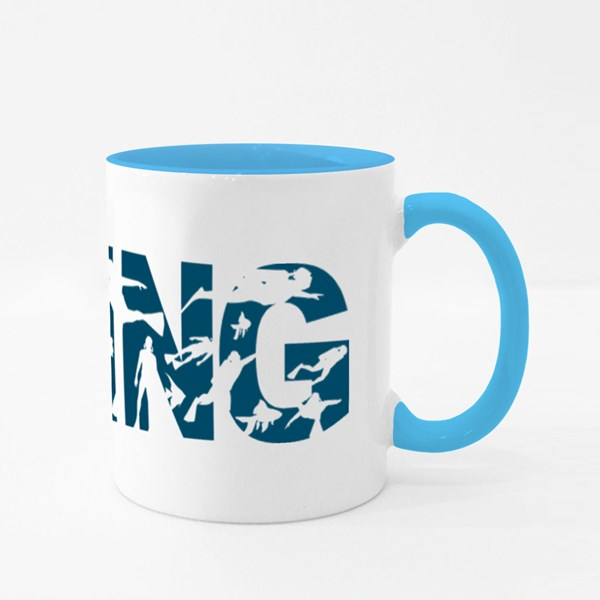 Concept of Sport Diving Colour Mugs