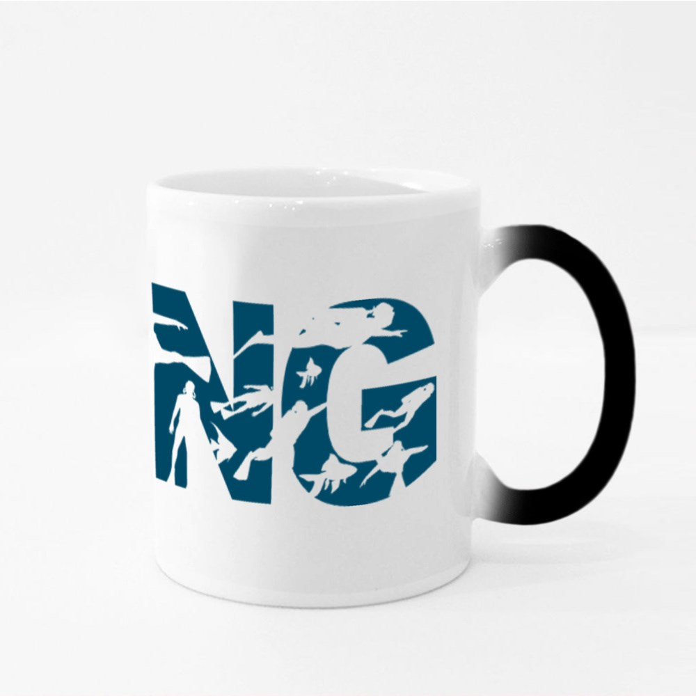 Concept of Sport Diving Magic Mugs