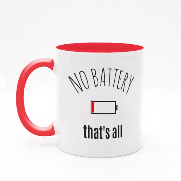 No Battery, Low Battery Colour Mugs