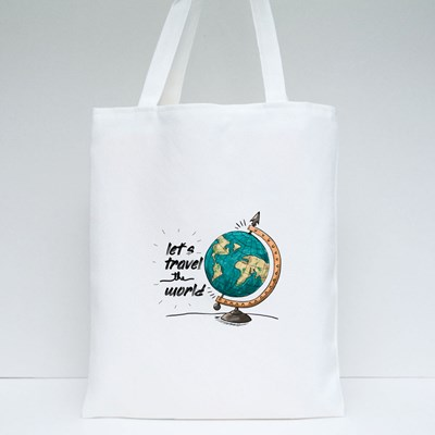 Let's Travel Around the World Tote Bags