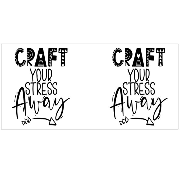 Craft Your Stress Away Colour Mugs