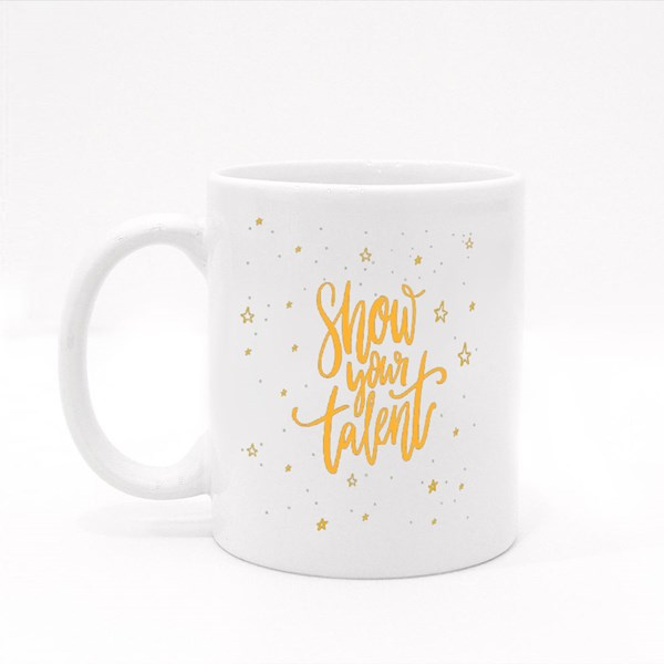 Show Your Talent Sign Colour Mugs