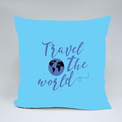 Travel the World With Globe 抱枕
