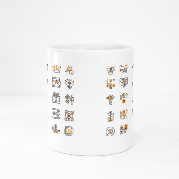 Growth Hacking Elements Colour Mugs