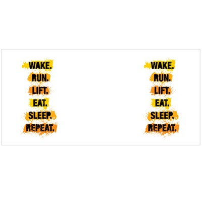 Wake Run Lift Eat Sleep Repeat Magic Mugs