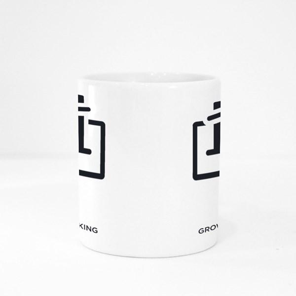 Growth Hacking Logo Sign Colour Mugs