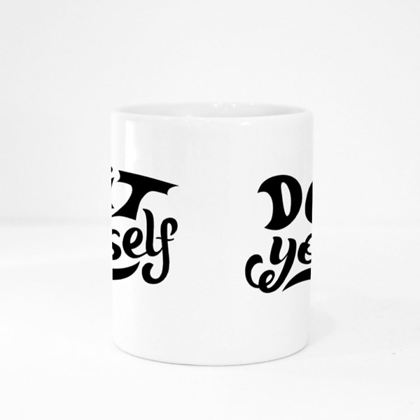 Do It Yourself Hand Lettering Colour Mugs