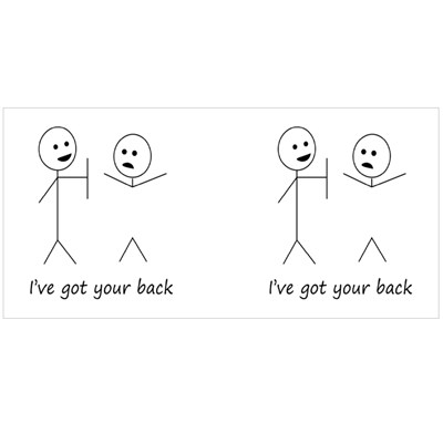 I've Got Your Back Magic Mugs