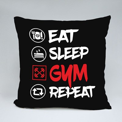 Fitness Training Funny Throw Pillows
