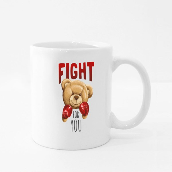 Fight for You Bear Colour Mugs