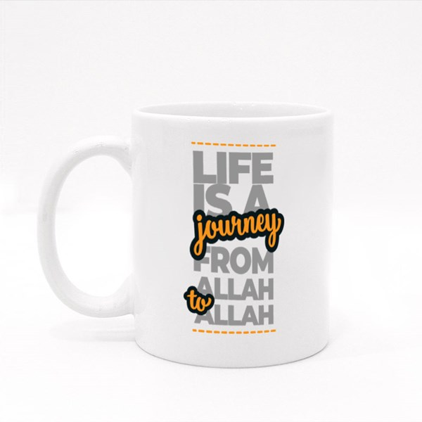 Life Is a Journey from Allah Colour Mugs