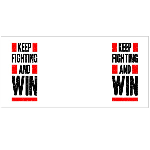 Keep Fighting and Win Colour Mugs